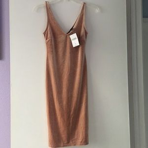 Velvet bodycon dress NWT